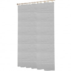 Κουρτίνα Μπάνιου Ανάγλυφη Υφασμάτινη Λευκή 180x180cm