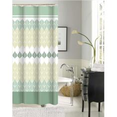 Κουρτίνα Μπάνιου Green Leaves Υφασμάτινη 180x180cm