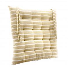 Μαξιλάρι Διακοσμητικό Καρέκλας Υφασμάτινο Μπεζ  Ριγέ 40Χ40