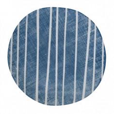 Πιάτο Φρούτου Πορσελάνης Blue Breezel Stripe R2S 21cm