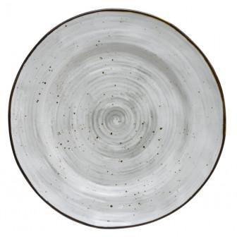 Πιατέλα Στρογγυλή 30cm New Bone China Country Grey