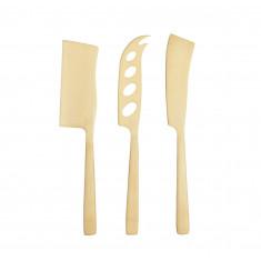 Σετ Μαχαίρια Τυριών 3τμχ. Artesa Brass By Kitchencraft