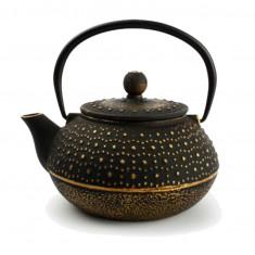 Τσαγιέρα Από Μαντέμι My Tea Points Gold On Black 800ml Salt & Pepper