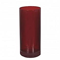 Ποτήρι Σωλήνας Κρυστάλλινο Bohemia 350ml Σετ 6 Τμχ Kleopatra Κόκκινο