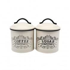 Δοχεία Σετ Καφέ -Ζάχαρη Μεταλλικά Cuisine 15cm
