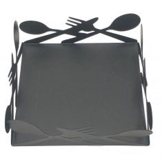 Χαρτοπεσετοθήκη Επιτραπέζια Cutleries Μεταλλική Μαύρη