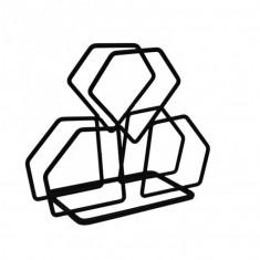 Χαρτοπεσετοθήκη Μεταλλική Τρίγωνη Black