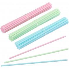 ξυλάκια 15cm για cake pop πλαστικά χρωματιστά 60τεμάχια sweetly does it
