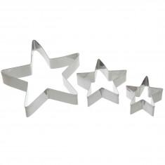 Κουπ-Πατ Μεταλλικά Αστέρι Σετ 3 Τεμάχια Kitchencraft