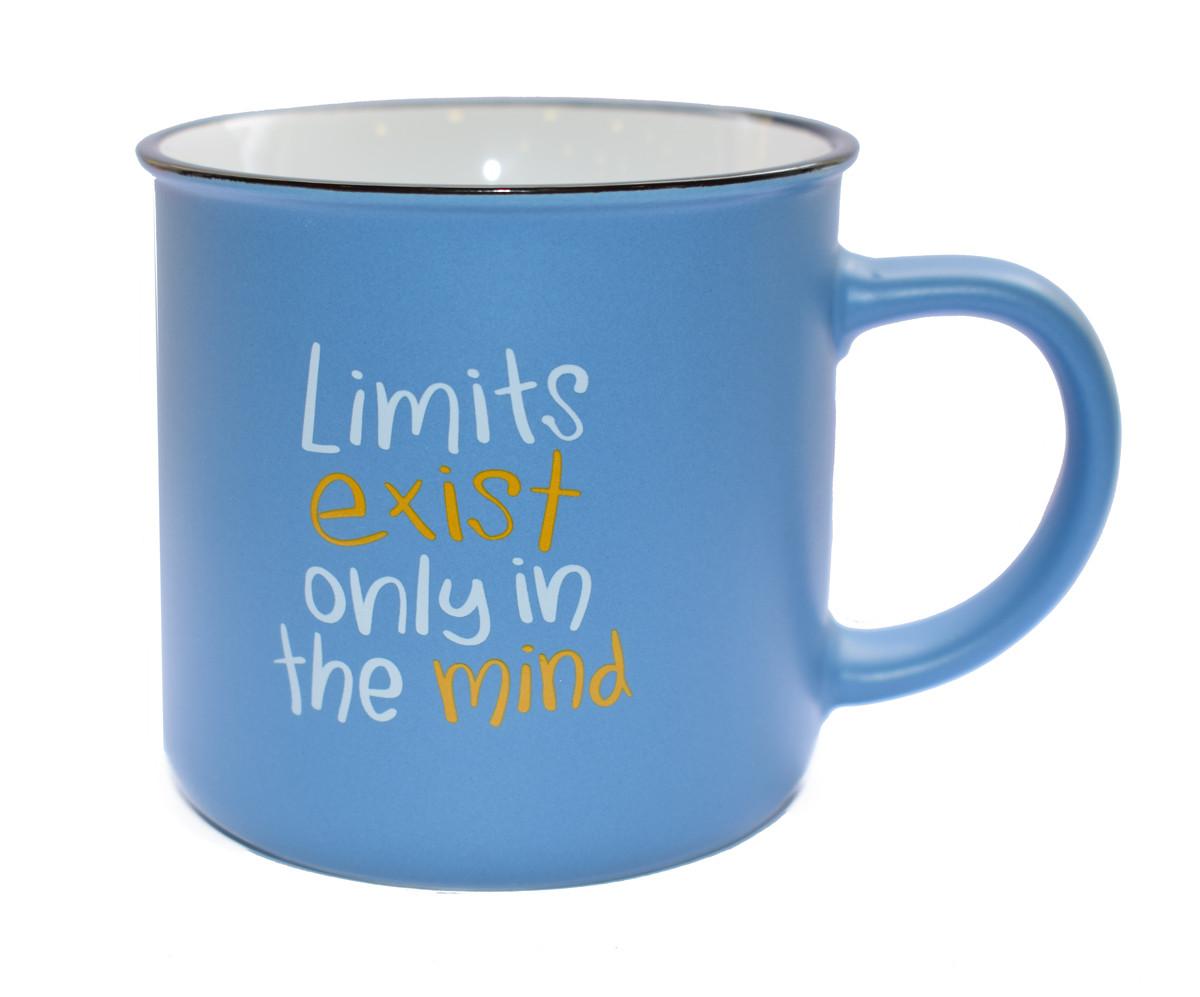 Κούπα Πορσελάνης Τύπου Εμαγιέ Μπλε Limits 325ml