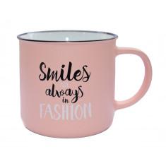 Κούπα Πορσελάνης Τύπου Εμαγιέ smiles 325ml