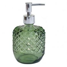 Dispencer Θήκη Για Κρεμοσάπουνο Γυάλινο Diamond Green