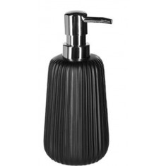 Dispencer Θήκη Για Κρεμοσάπουνο Κεραμικό Stripes Black 5five