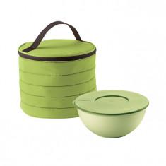 Ισοθερμική Τσάντα Στρογγυλή Guzzini Με Δοχείο Τροφίμων Πράσινη