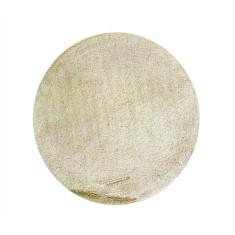 Χαλάκι Στρογγυλό Βαμβακερό Beige 60cm