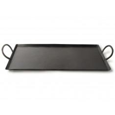 Δίσκος Σερβιρίσματος Μεταλλικός Με Λαβές Μαύρος 53cm Gusta