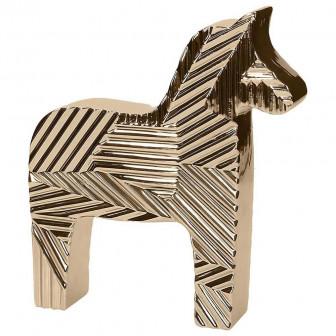 Διακοσμητικό Άλογο Κεραμικό Petit Gold 15cm Andrea Fondebasso