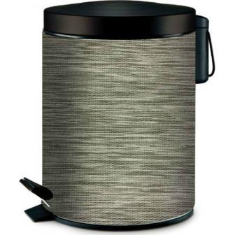 Πεντάλ Μεταλλικό Στρογγυλό 5lit. Exlusive Silver Marva Home