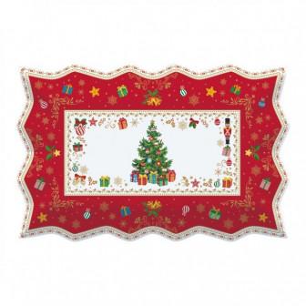 Πιατέλα Πορσελάνη Ορθογώνια Ornaments 35cm