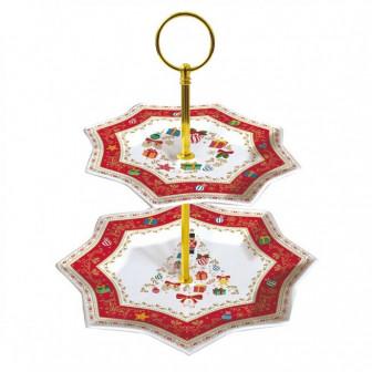 Πιατέλα Πορσελάνη Διόρωφη Ornaments 20cm r2s