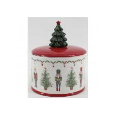 Μπισκοτιέρα Χριστουγεννιάτικη Κεραμική Nutcracker 19cm
