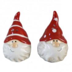 Αλατοπίπερο Χριστουγεννιάτικη Κεραμικό Santa Red Σετ 2τμχ.