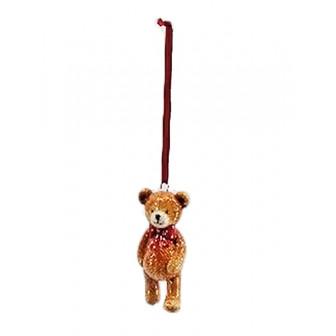 Στολίδι Χριστουγεννιάτικο  Κρεμαστό Κεραμικό Αρκουδάκι
