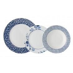 Σερβίτσιο Φαγητού LAura Ahley Blue Print 18τμχ.