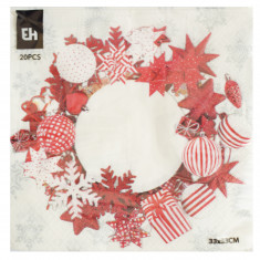 Χαρτοπετσέτες Πολυτελείας Χριστουγεννιάτικες 20Τμχ. Στεφανάκι