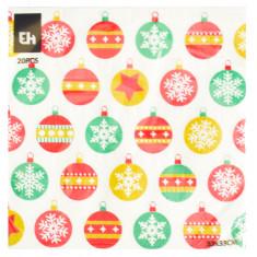 Χαρτοπετσέτες Πολυτελείας Χριστουγεννιάτικες 20Τμχ. Μπάλες