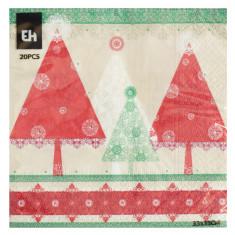 Χαρτοπετσέτες Πολυτελείας Χριστουγεννιάτικες 20Τμχ. Δεντράκια