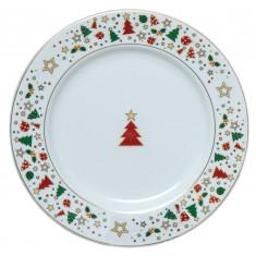 Πιατέλα Χριστουγεννιάτικη Πορσελάνης Christmas Celebrate 31cm