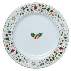 Πιάτο Φρούτου Στρογγυλό Σετ 6τμχ. Πορσελάνης Christmas Celebrate 19cm