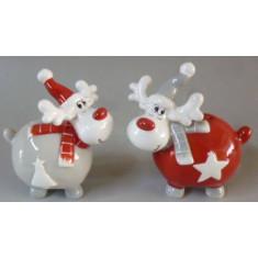 Αλατοπίπερο Χριστουγεννιάτικo Κεραμικό Tαρανδος Σετ 2τμχ.