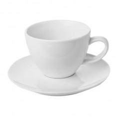 Φλιτζάνι & Πιάτο Πορσελάνης Καφέ Bistro 150ml Gural
