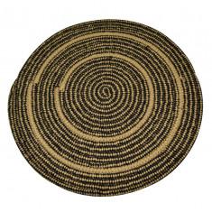 Σουπλά Ψάθινο Στρογγυλό black 35cm