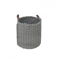 Καλάθι Υφασμάτινο Grey 38cm