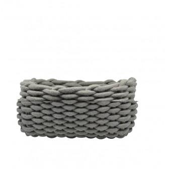 Καλάθι αποθήκευσης Υφασμάτινο Πλεκτό Grey 32cm
