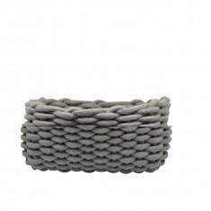 Καλάθι αποθήκευσης Υφασμάτινο Πλεκτό Grey 28cm