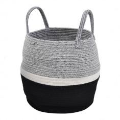 ΚΑλάθι Υφασμάτινο Πλεκτό Grey White 38cm