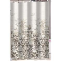 Κουρτίνα Μπάνιου Υφασμάτινη Grey Leaves 180x180cm