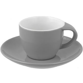 Φλιτζάνι & Πιάτο Espresso Grey Happy Ware