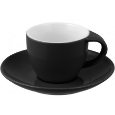 Φλιτζάνι & Πιάτο Espresso Black Happy Ware