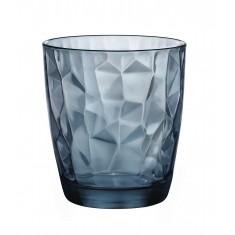 ποτήρι ουίσκι bormioli diamond μπλέ 30,5cl