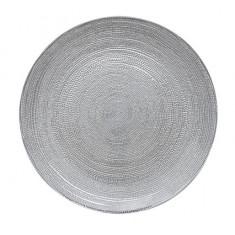 Πιατέλα Γυάλινη Στρογγυλή 32cm Mosaic Grey