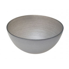 Μπολ Γυάλινο Στρογγυλό  Mosaic Grey 28cm