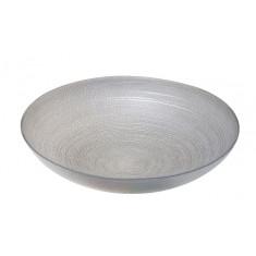 Μπολ Γυάλινο Στρογγυλό Mosaic Grey 40cm