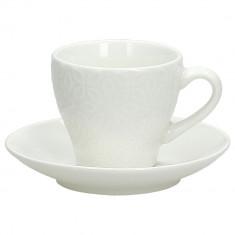 Φλιτζάνι Πορσελάνης Καφέ Με Πιάτο Σετ 6τμχ. Margaret Andrea Fondebasso