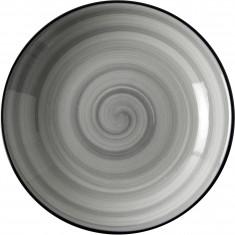 Πιάτο Βαθύ Πορσελάνης Porline Grey 21cm Porline Porselen