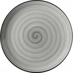 Πιάτο Ρηχό Πορσελάνης Porline Grey 27cm Porline Porselen